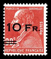 N°3, Berthelot 10F Sur 90c Rouge Surchargé à Bord Du Paquebot 'Ile De France' Frais, SUP (signé Champion/certificats)  Q - Poste Aérienne