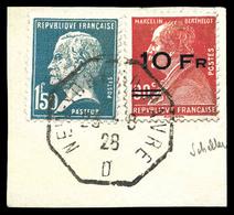N°3, Berthelot Surchargé à Bord Du Paquebot 'Ile De France' (+ N°181) Sur Son Support. TTB. R. (signé Scheller/Brun/cert - Airmail