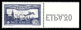 N°6c, 1F50 Outremer Perforé 'E.I.P.A.30' Renversé, Bdf, TB (certificat)  Qualité: *  Cote: 580 Euros - 1927-1959 Ungebraucht