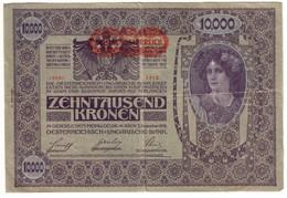 Austria 10000 Kronen 1919 II Auflage // 2 Type - Austria