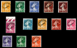 N°50/64, Semeuse, Série Complète (Sf N°58 Et 60), Les 13 Valeurs TTB  Qualité: **  Cote: 739 Euros - Preobliterati