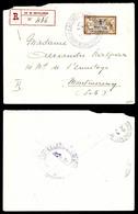 N°24, 2 Pi Sur 50c Merson Obl Càd 'CASTELLORIZO/CORP D'OCCUPATION' En Violet Sur Lettre Recommandée Pour Montmorency. TT - Castellorizo (1920)