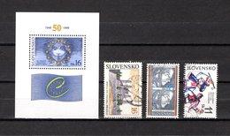 Eslovaquia  1993-99  .-  Y&T  Nº   2-7-9-11   Blocks - Hojas Bloque