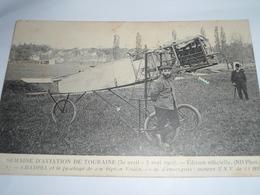 C.P.A.- Semaine Aviation Touraine - Pilote Champel Et Fuselage De Son Biplan Voisin - 1910 - SUP (BV 99) - Aviateurs