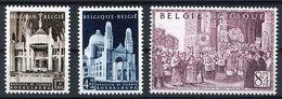 BELGIQUE 1952 N° 876 / 877 / 878. ** (MNH). Cote 42€. J.E Van Roey. TB - Bélgica
