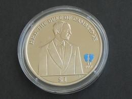 Médaille Anglaise H.R.H . THE DUKE OF CAMBRIDGE -British Virgin Islands Queen Elizabeth II   **** EN ACHAT IMMÉDIAT **** - Royaux/De Noblesse