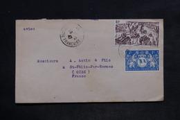 GUYANE - Enveloppe De Cayenne Pour La France En 1947 , Affranchissement Plaisant - L 34080 - Guyane Française (1886-1949)