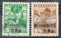 Sellos Serie AUSTRIA 1935, WINTERHILFE, Socorro De Invierno, Yvert Num 467 Y 469 º/** - Usados
