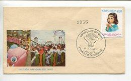 COLOMBIA - CRUZADA NACIONAL DEL NIÑO. AÑO 1973 SOBRE PRIMER DIA ENVELOPE FDC - LILHU - Infancia & Juventud