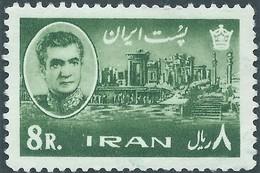 PERSIA IRAN PERSE 1962 Mohammad Reza Pahlavi, 8 Rial , Not Used- Scott:1217 - Value 7,00 - Iran