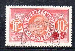 APR548 - SAINT PIERRE & MIQUELON 1915  , Yvert  N. 105 Usato (2380A) - Usati