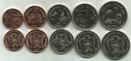 Sao Tome And Principe 10 - 20 - 50 Centimos 1 And 2 Dobras 2017. High Grade Set - Sao Tome And Principe