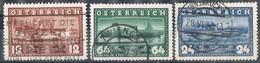 Serie Completa, Complet Shet AUSTRIA 1937, Navegacion Vapor DANUBIO, Yvert Num 497-498 º - Usados