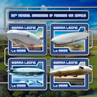 "SIERRA LEONE 2017 - Airship ""Norge"" - YT CV=19 €, 6889-92 - Polar Flights"