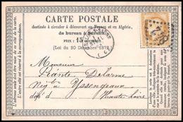 1298 Carte Postale (postcard) Précurseur N°55 GC 842 Chalon-sur-Saône Cères Pour Yssingeaux Haute Loire - Postal Stamped Stationery
