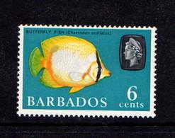 BARBADOS   1965    6c  Turquoise      Inverted  Wmk    MNH - 1963-1973 Autonomia Interna