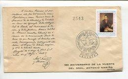 COLOMBIA - 150 ANIVERSARIO DE LA MUERTE DEL GENERAL ANTONIO NARIÑO. AÑO 1973 SOBRE PRIMER DIA ENVELOPE FDC - LILHU - Celebridades
