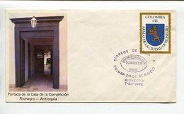 COLOMBIA - PORTADA DE LA CASA DE LA CONVENCION, RIONEGRO - ANTIOQUIA. AÑO 1973 SOBRE PRIMER DIA ENVELOPE FDC - LILHU - Otros