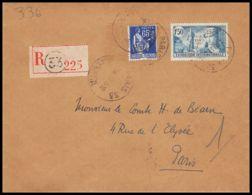 1890 Lettre (cover) Recommandé N°336 Exposition Internationale De Paris 1937 - Postmark Collection (Covers)