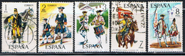 (2E 529) ESPAÑA // YVERT 1852 à 1856  // EDIFIL 2197 à  2201 // 1974 - 1971-80 Oblitérés