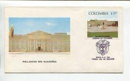 COLOMBIA - PALACIO DE NARIÑO. AÑO 1980 SOBRE PRIMER DIA ENVELOPE FDC - LILHU - Otros