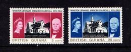 BRITISH  GUIANA      1965    Churchill  Commemoration   Set  Of  2    MH - British Guiana (...-1966)