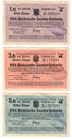 Germany Lottery - Sachsische Loterie 1933/1934 Set 3 Tickets - Biglietti Della Lotteria