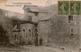 Cpa 53 ST-CALAIS-du-DESERT  Le Moulin à Papier (moulin à Eau Provenant D'un Bief) Animée , à La Porte Et à La Fenêtre - Francia