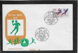Thème Hand-ball - Jeux Olympiques - Sports - Enveloppe - Handball
