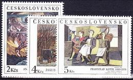 ** Tchécoslovaquie 1989 Mi 3025-7 (Yv 2826-8), (MNH) - Czechoslovakia