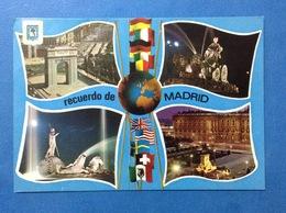 POST CARD CARTOLINA FORMATO GRANDE RICORDO RECUERDO DE MADRID - Madrid