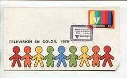 COLOMBIA - TELEVISION EN COLOR. AÑO 1979 SOBRE PRIMER DIA ENVELOPE FDC - LILHU - Informática