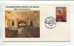 COLOMBIA - CONSERVATORIO MUSICAL DE IBAGUE, SALA DE CONCIERTOS. AÑO 1980 SOBRE PRIMER DIA ENVELOPE FDC - LILHU - Otros