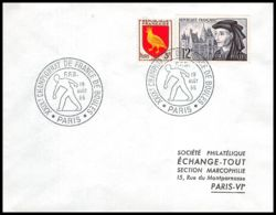 3702 France Lettre (cover) N°1034 Jacques Coeur Championnat De France De Boules 19/8/1955 - Poststempel (Briefe)
