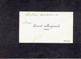 HULSHOUT 1910 OUDE VISITEKAARTJE - Evarist BRUYNSEELS - Student - Tarjetas De Visita