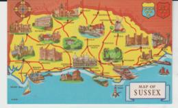 Postcard - Map Of Sussex Will Ills, Card No..A2460  - Unused  Very Good - Postcards