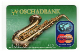 Credit Card Music Saxophone Bankcard Oschadbank Bank UKRAINE MasterCard Expired - Geldkarten (Ablauf Min. 10 Jahre)