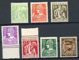 BELGIQUE 1932 N°335 à 341 * (MH). DONT 339 ** (MNH). - Unused Stamps