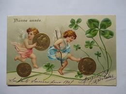 LOUIS D'OR  -   BONNE ANNEE -  CHERUBINS  -   GAUFFRE ET DORE         TTB - Monete (rappresentazioni)