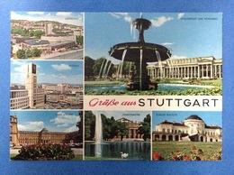 POST CARD CARTOLINA FORMATO GRANDE STUTTGART STOCCARDA ANNULLO TARGHETTA AL RETRO - Stuttgart