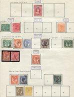 13553 QUEENSLAND Collection Vendue Par Page N° 60, 63/4, 68/71, 73, 75/6, 78/9, 81, 82/3 */ °  1891-97  B/TB - Timbres