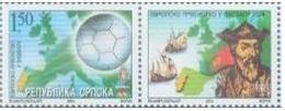 BHRS 2004 EU CUP FOOTBALL, BOSNA AND HERZEGOVINA, R.SRPSKA, 1 X 1v + Labels, MNH - Fußball-Europameisterschaft (UEFA)