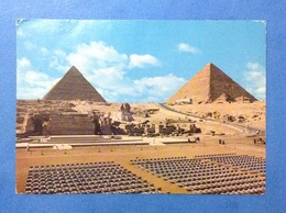 POST CARD CARTOLINA FORMATO GRANDE EGYPT EGITTO PIRAMIDI - Piramidi