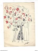 CHARLES KIFFER ( 1902 - 1992 ) Dessin à La Plume Et Touches De Couleur - Dessins