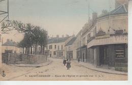 SAINT CHERON - Place De L'église Et Grande Rue  PRIX FIXE - Saint Cheron