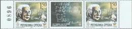 BHRS 2004-297 125A°ALBERT EINSTEIN, BOSNA AND HERZEGOVINA, R.SRPSKA, 2 X 1v + Label, MNH - Albert Einstein