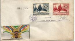 ROTARY INTERNATIONAL.Quinta De Bolívar, Residence De Simon Bolivar.Bogota.Meeting In Colombia 1955,numérotée - Rotary, Club Leones