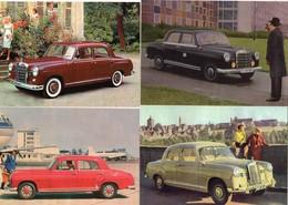 MERCEDES-BENZ 180/190   -  Lot De 4 Voitures/Automobiles  -  4 X Cartes Postales Modern - 4xCPM - Turismo