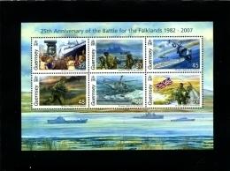 GUERNSEY - 2007  BATTLE FOR THE FALKLANDS   MS   MINT NH - Guernsey