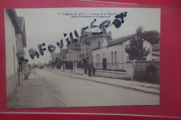 Cp Lagny Avenue De La Republique Eglise Protestante  Et Evangelique  N 37 - Lagny Sur Marne